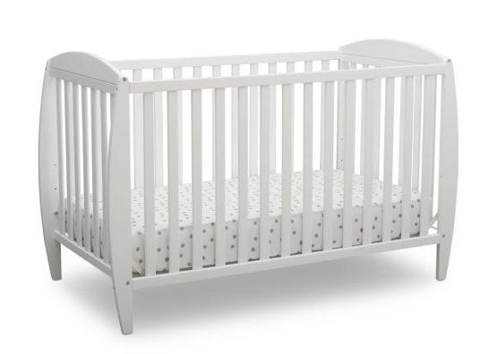 Delta Children 4-in-1 Convertible Crib – Taylor (White)
