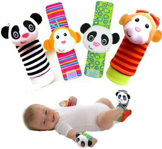 Infant Rattle Toy Socks & Wrist Rattles