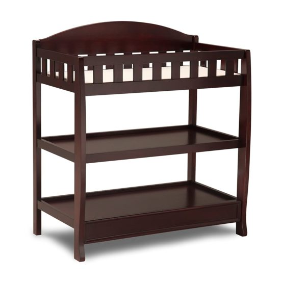Delta Children Infant Changing Table with Pad – Brown