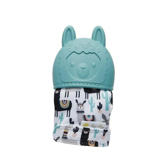 Itzy Ritzy Teething Mitten – Llama (Green)