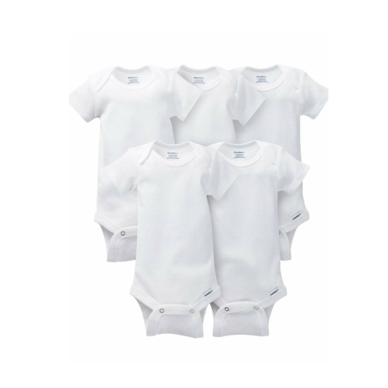 Gerber 5pc White Onesies