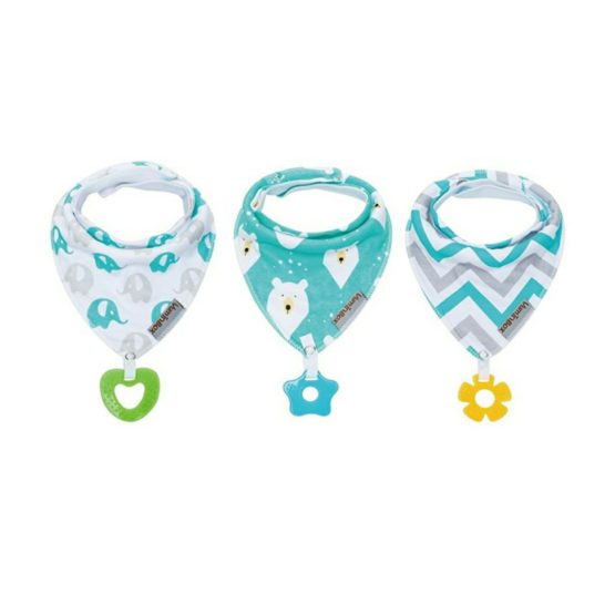 VumiBox Bandana Drool Bib with Teether – Teal