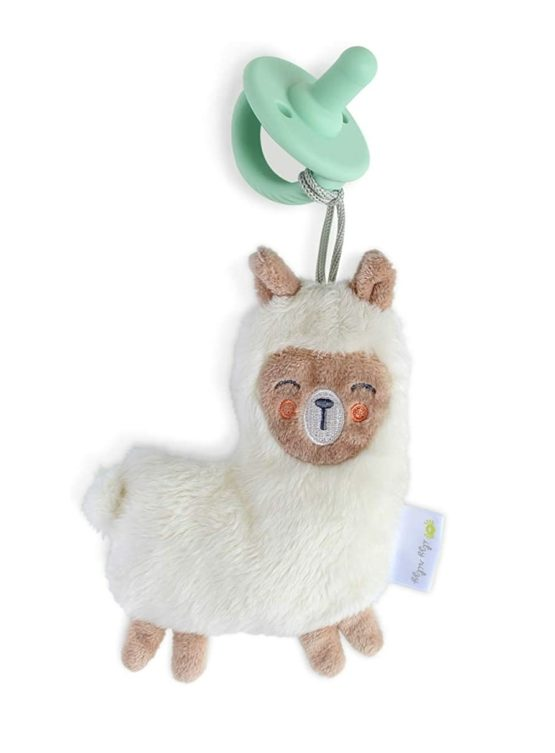 Itzy Ritzy Silicone Pacifier – Llama (White)
