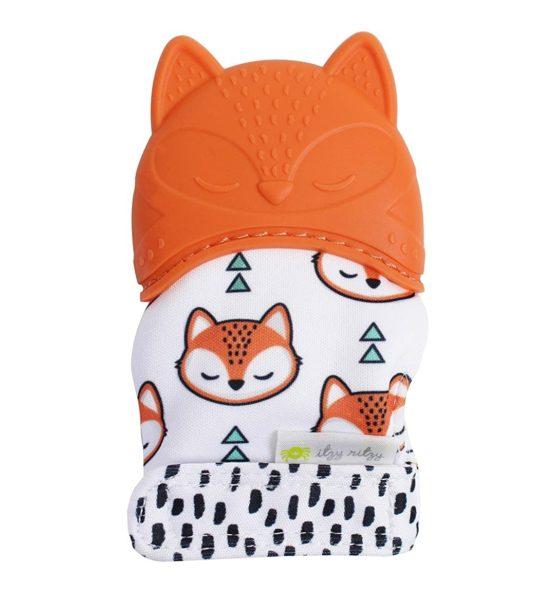Itzy Ritzy Teething Mitten – Fox (Orange)