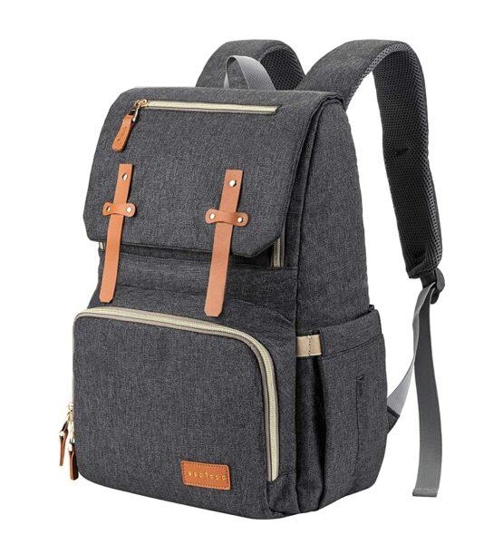 Espidoo Baby Diaper Bag Backpack – Dark Grey