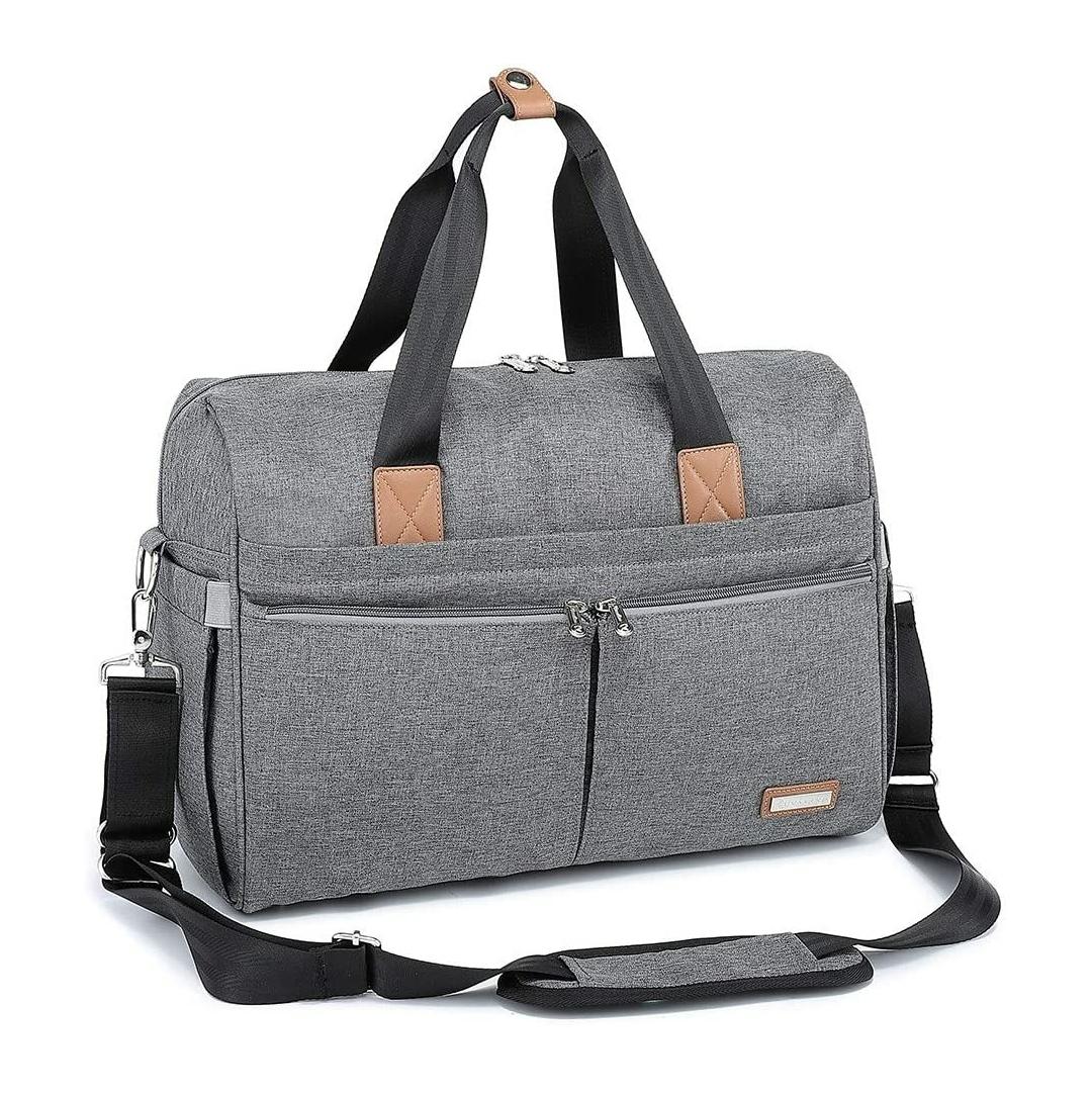 Ruvalino Large Travel Diaper Bag – Grey
