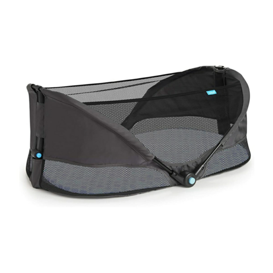 Munchkin Brica Fold N' Go Travel Bassinet – Grey