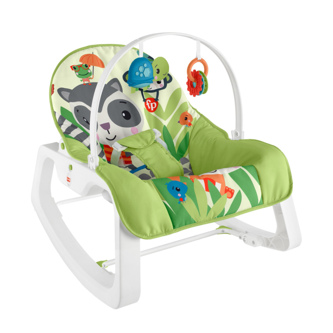 Fisher-Price Infant to Toddler Rocker – Green Critters
