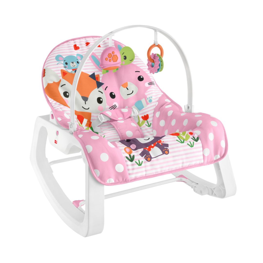Fisher-Price Infant to Toddler Rocker – Pink Critters